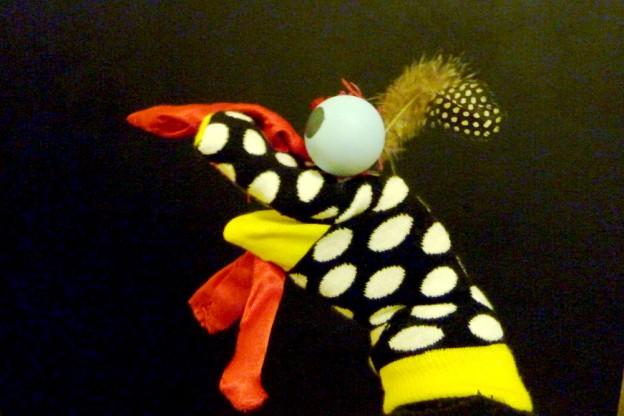 Marionnettes chaussettes et objets courants