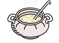 Ausklang mit Suppe und Getränken